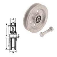 Torrolle GG180mm,Rille13 mm,TK =500 kg