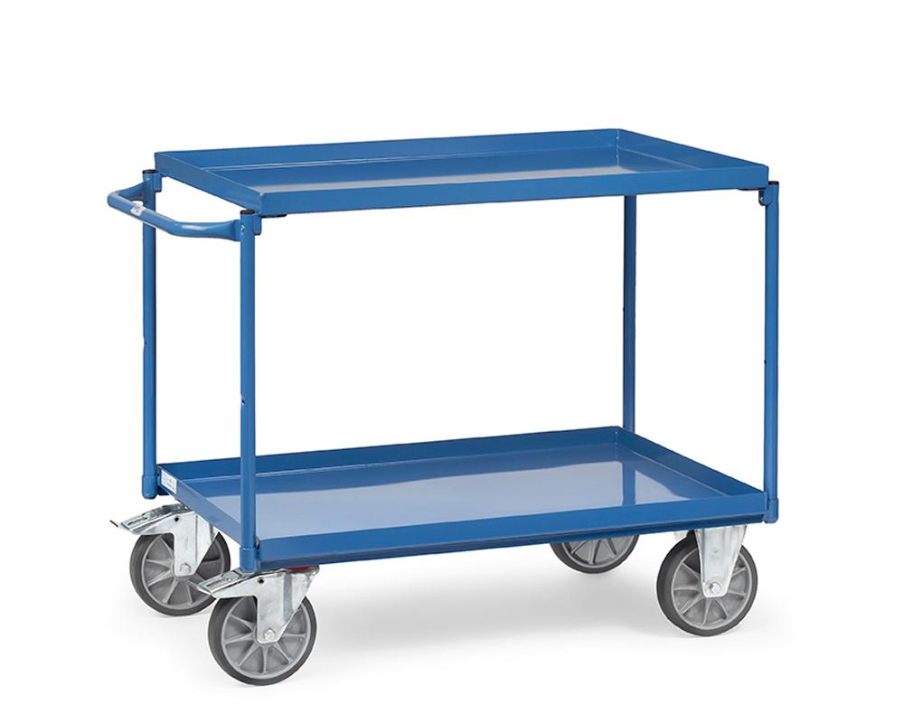 Tischwagen 1000x700,2 Etagen Blechwannen
