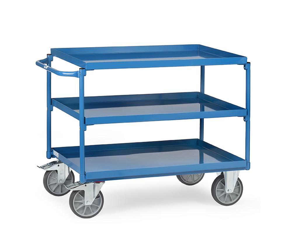 Tischwagen  850x500,3 Etagen Blechwannen