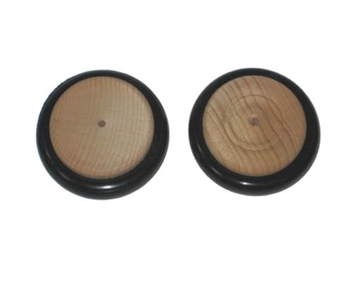 Holzrad, Gummireifen 40x7mm, Vorbohrung