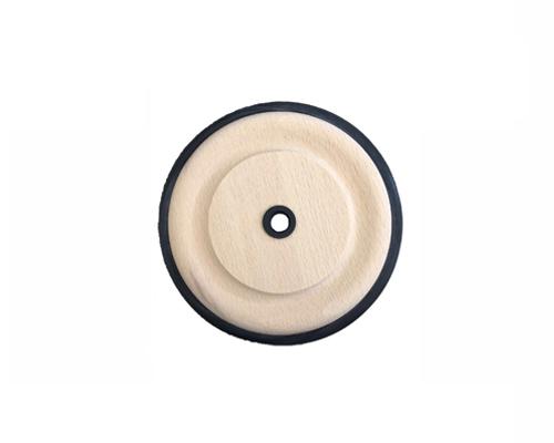Holzrad, PU-Reifen 100x12mm, Buchse aus Kunststoff, 8,1 mm Bohrung