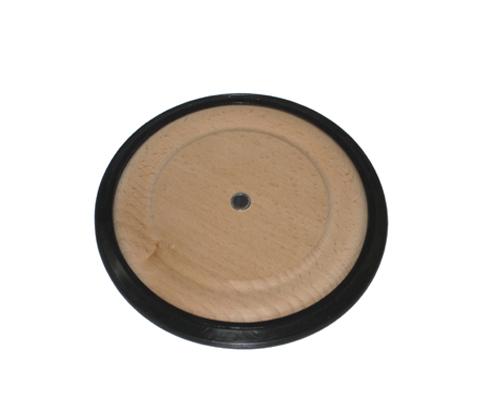 Holzrad, PU-Reifen 150x14mm, Buchse aus Kunststoff, Bohrung 8,1 mm,