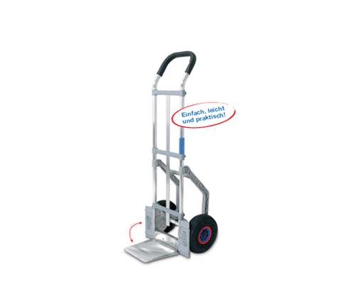 Stapelkarre aus Alu, Luftrad, TK 250kg.,