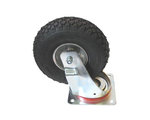 Lenkrolle mit Luftrad 260x85, mit Platte