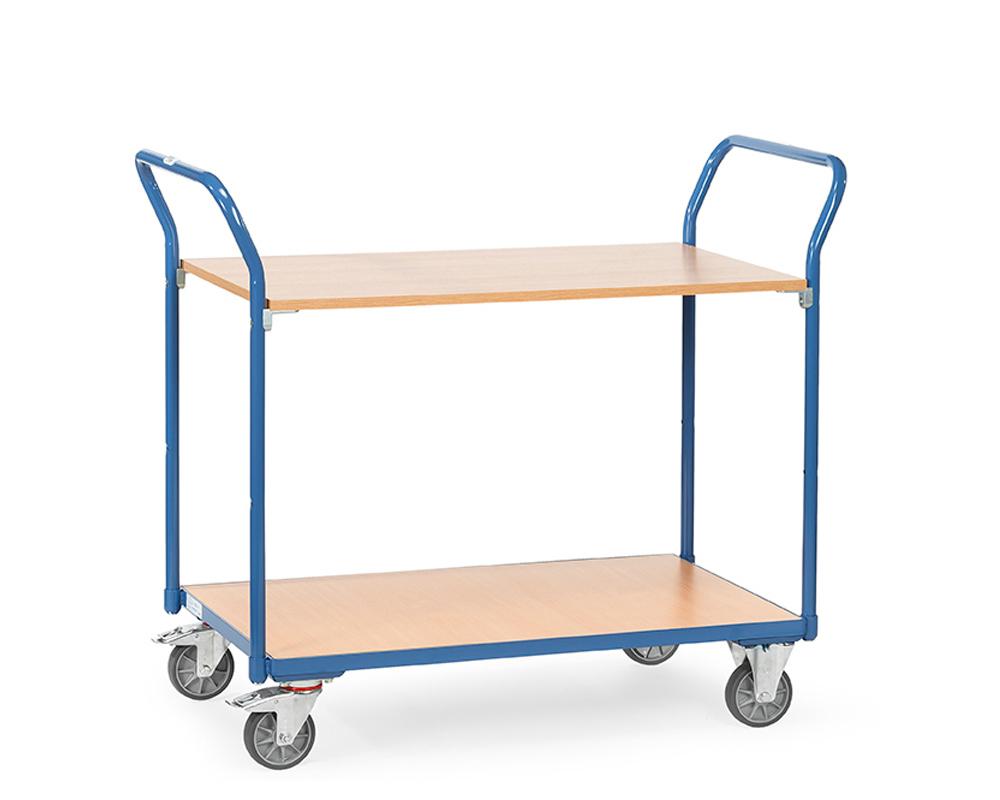 Tischwagen 850x500,2 Etagen, TK 200 kg.