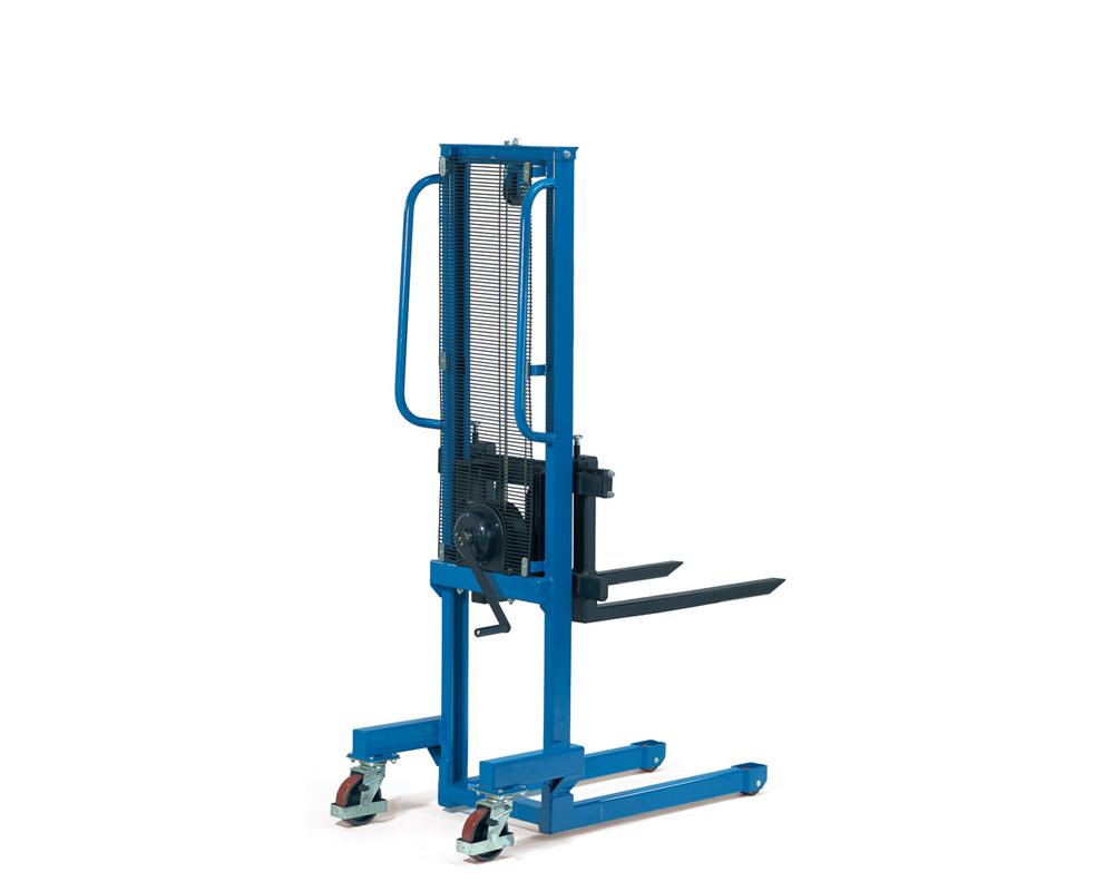 Handwinden-Stapler,TK500kg,Hub 0,9-1,56m