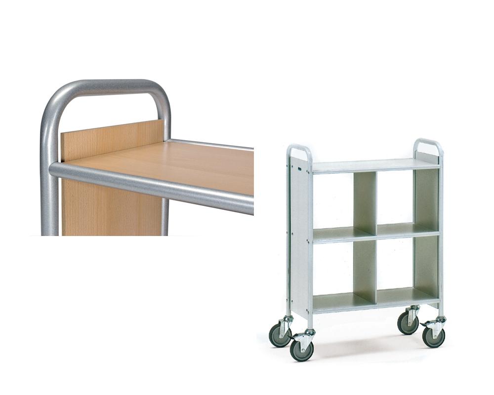 Bürowagen silber/Buche,Trennwand