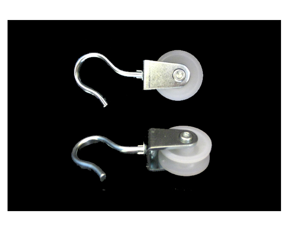 Haken-Seilrolle,Polyrad D 30 mm,TK 15 kg