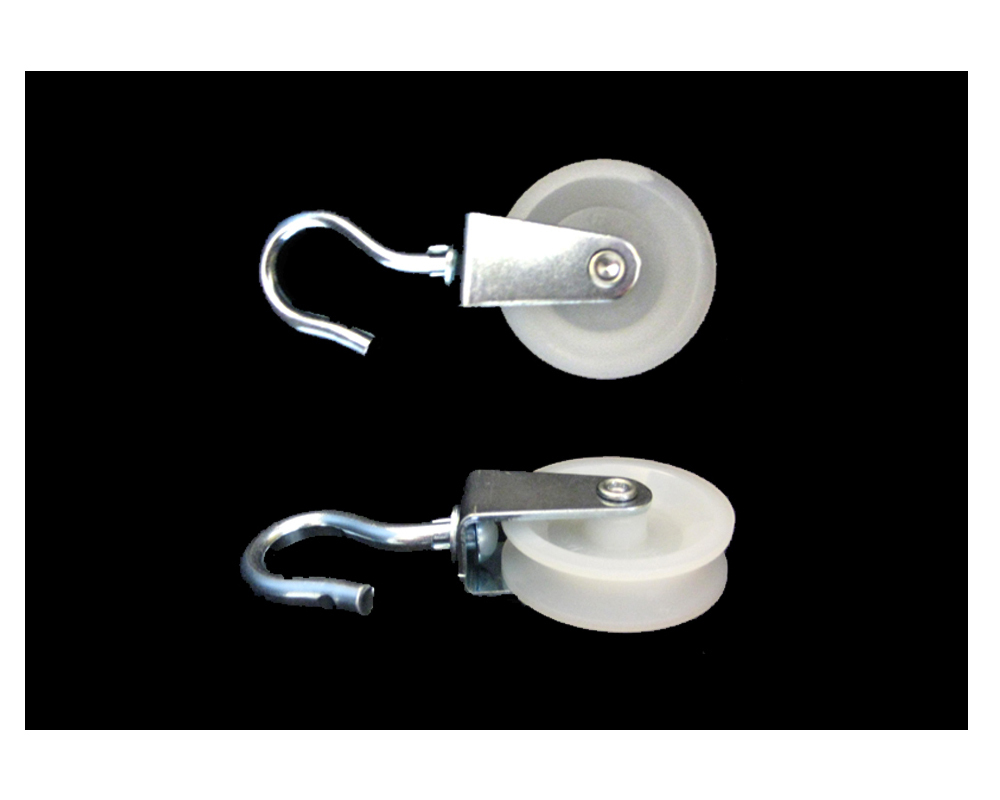 Haken-Seilrolle,Polyrad D 60 mm,TK 40 kg