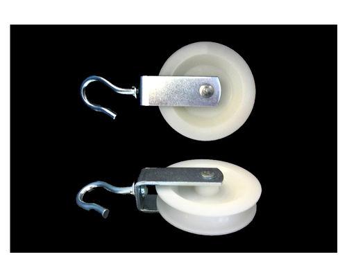 Haken-Seilrolle,Polyrad D 80 mm,TK 50 kg