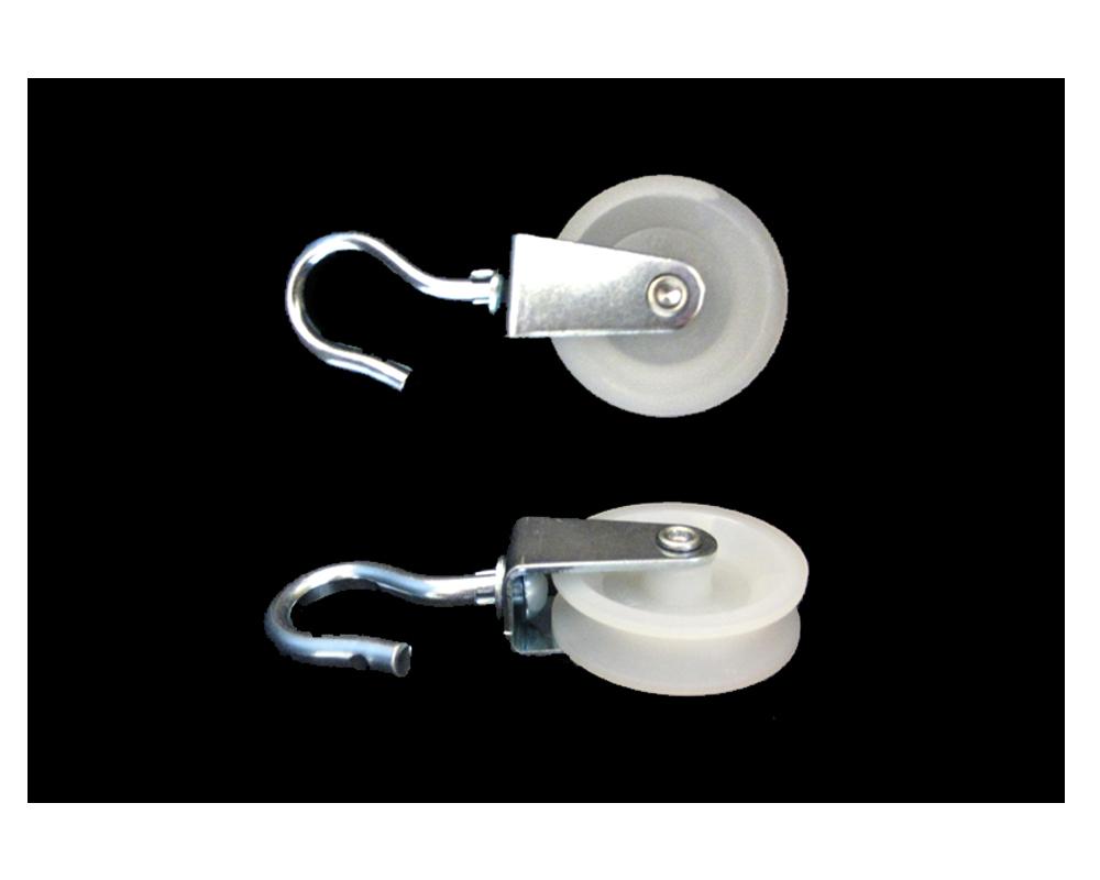 Haken-Seilrolle,Polyrad D 50 mm,TK 30 kg