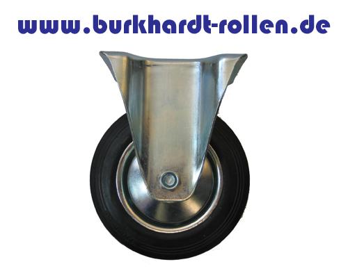 Transport-Bockrolle, Gummirad, Drm. 80mm
