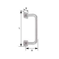 Torgriff, Stahl rostfrei, 160 mm