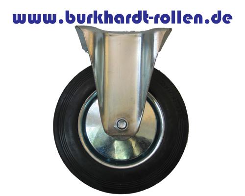 Transport-Bockrolle, Gummirad, Drm.200mm
