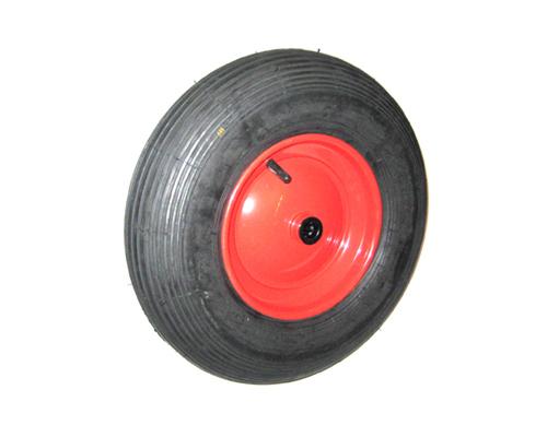Luftrad, 400x100mm.4.00-8, Rola 25x75mm, mit Stahlblechfelge und Schlauch