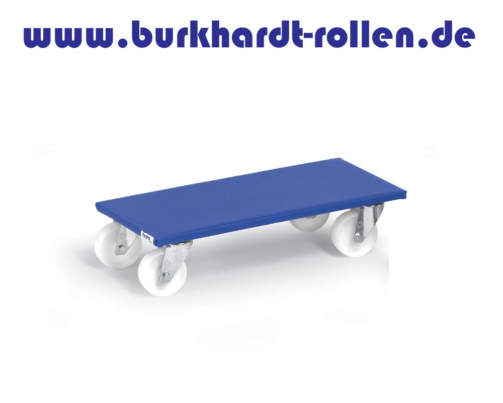 Möbelroller 600x350mm, Polyrad D100mm,