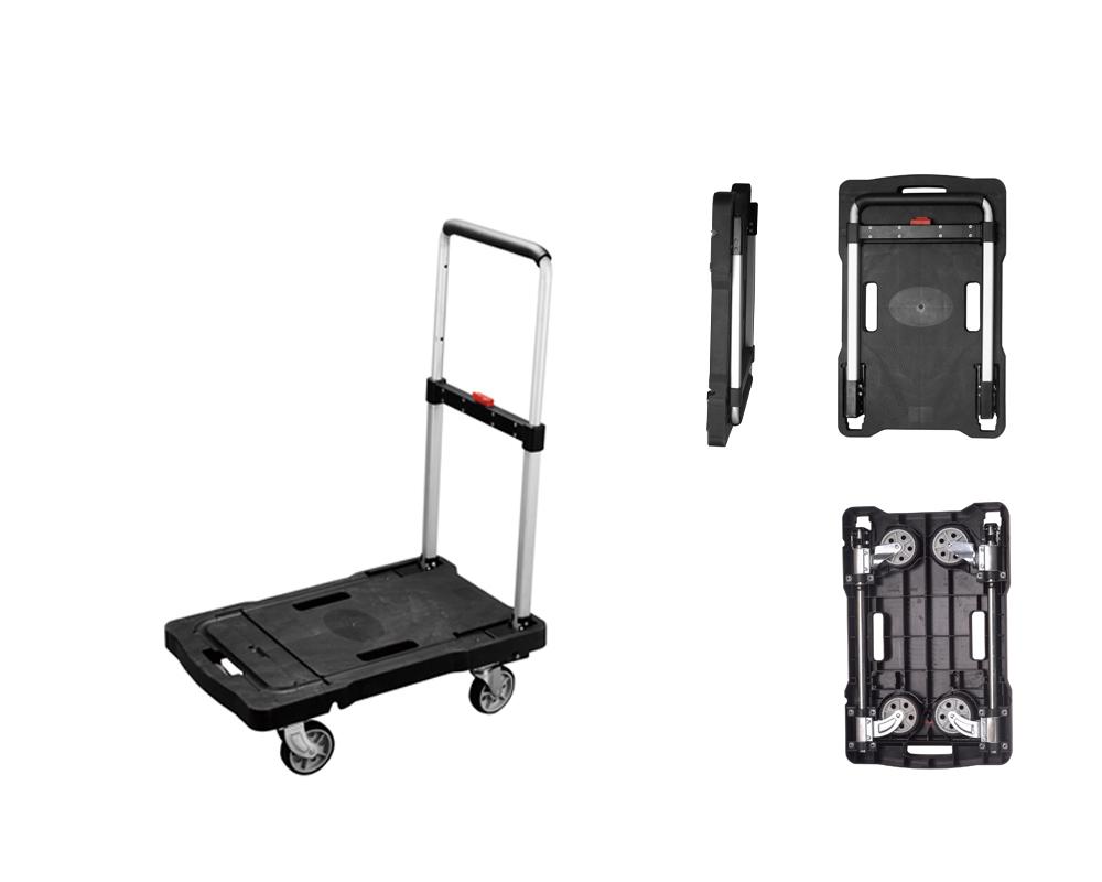 Klappbügelwagen LxB 653x415 mm, Bügel und Räder klappbar,
