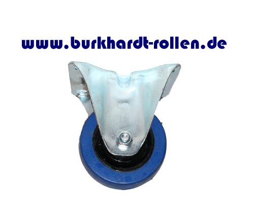 Bockrolle,Elastic-Gummi blau,D80mm,Kula Rad mit Kugellager,