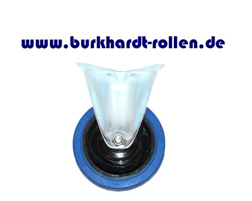 Bockrolle,Elastic-Gummi blau,D100mm,Kula Rad mit Kugellager,
