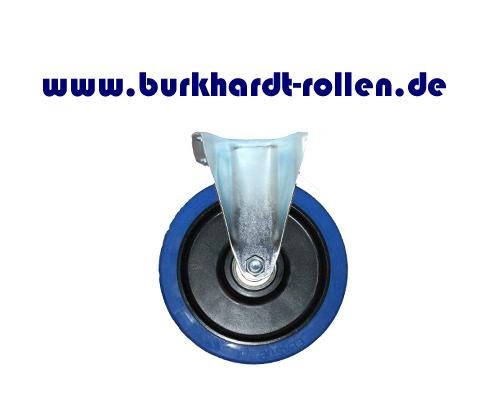 Bockrolle,Elastic-Gummi blau,D200mm,Kula Rad mit Kugellager