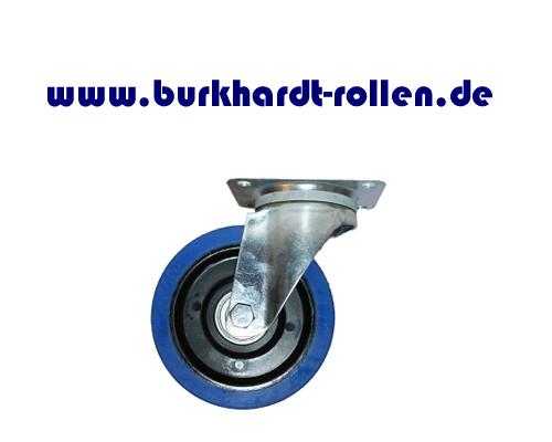 Lenkrolle,Elastic-Gummi blau,D160mm,Kula Rad mit Kugellager