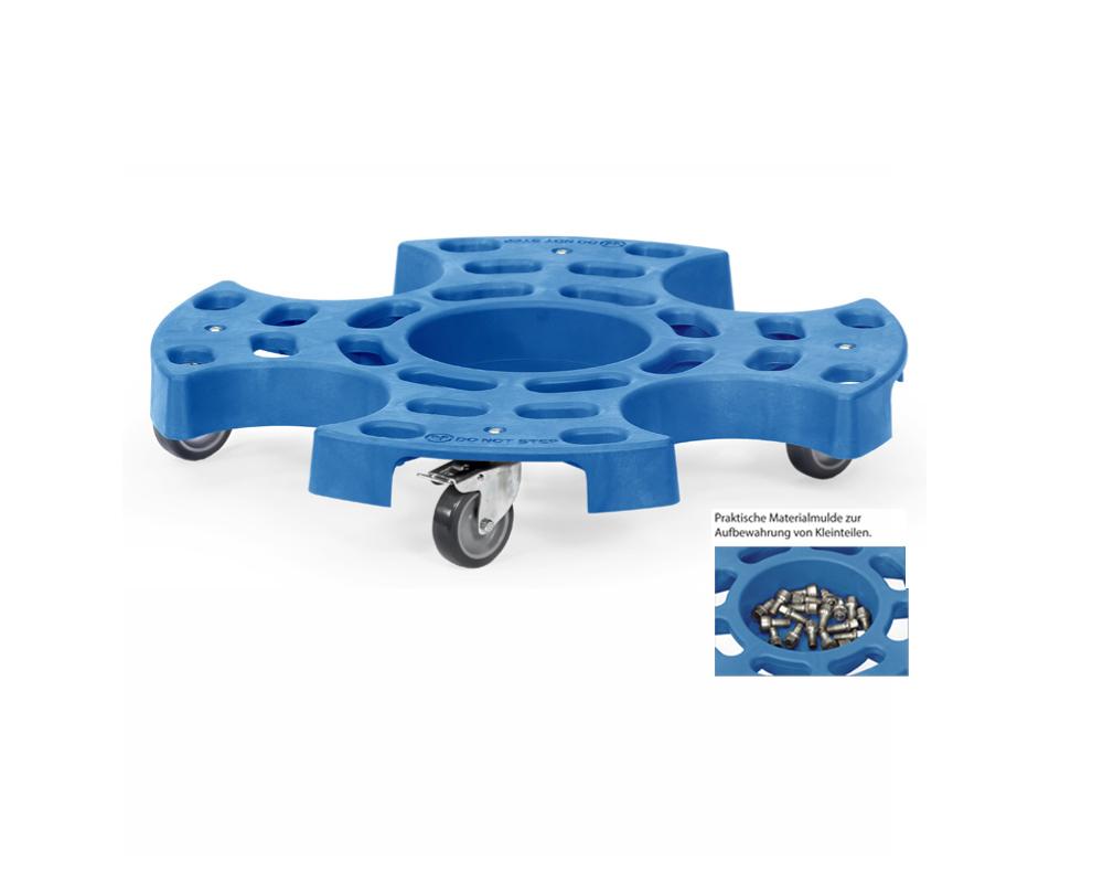 Reifenroller,TK 120 kg,Drm.630mm, LR75mm für Räder und Autoreifen,