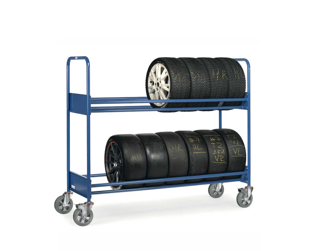 Reifenwagen, 2-Etagen,LxB 1991x671 mm verstärkte Ausführung bis 500 kg