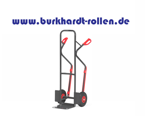 Stahlrohrkarre,Luftrad,H=1300 mm,RAL7016 Grey Edition