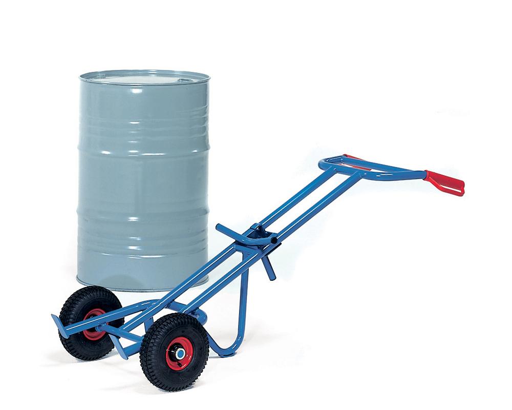 Fasskarre für 200-Liter Fässer, Luft-Rad