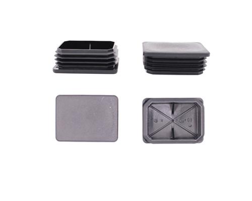 Abdeckkappe 80x60mm,s=1,5-3 mm,schwarz, für Rechteckrohr