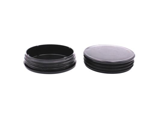 Kappe/Gleiter Rundrohr 102mm-WS 2-4 mm, schwarz,