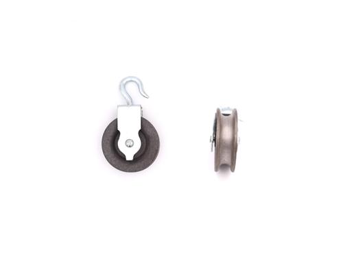 Bügelseilrolle mit drehbaren Haken 60mm, Seilrolle aus Grauguss,TK 22kg,Rille11mm