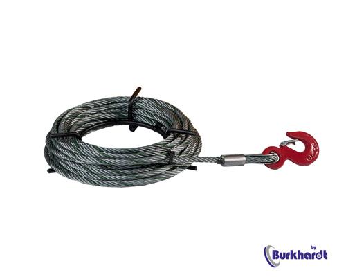 Stahlseil 20 mm f. DELTAFOR Seilzug 5,4 t, Länge 20m mit Haspel und Lasthaken